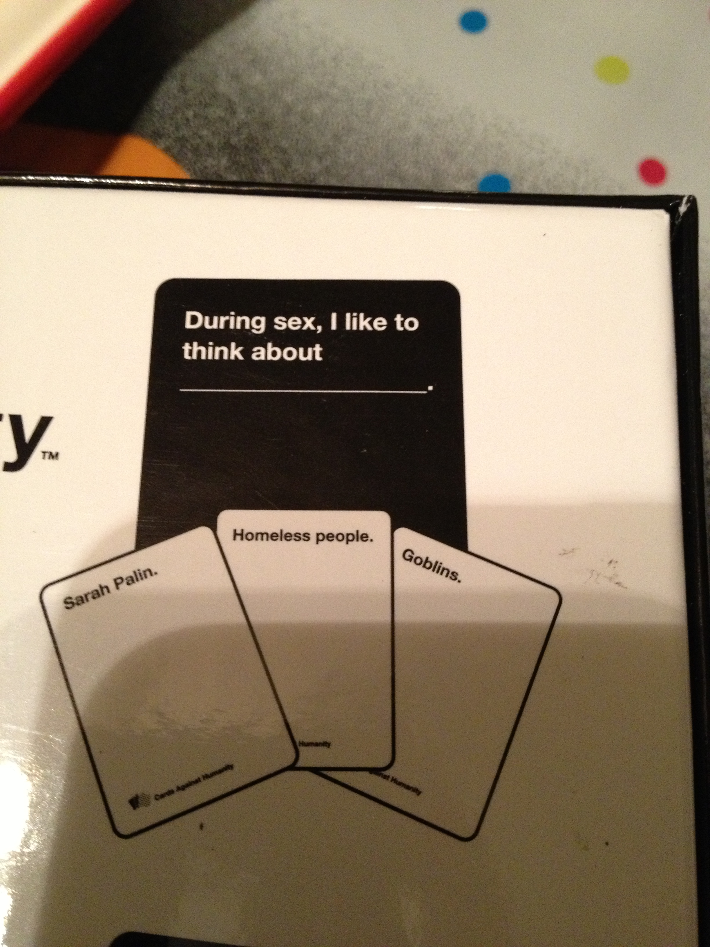 Cards Against Humanity My Maybe Not So Random Thoughts